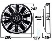Vapaatuuletin 12V puhaltava 230 mm