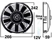 Vapaatuuletin 12V imevä 230 mm