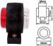 LED-äärivalo, kirkas/punainen 22052