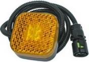 Led-äärivalo keltainen, heijastimella 6114