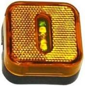 Led-äärivalo keltainen, heijastimella 4740