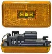 Led-äärivalo keltainen, heijastimella 4815
