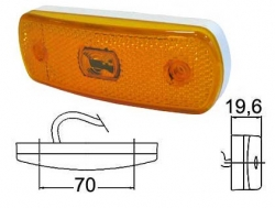 Led-äärivalo keltainen, heijastimella 27314