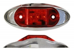 Äärivalo kromikehys punainen LED 27686