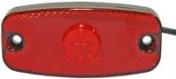 Led-äärivalo punainen, heijastimella 1400