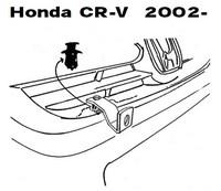 Lisävalojen Kiinnikesarja Honda CR-V 2/02-06 54008