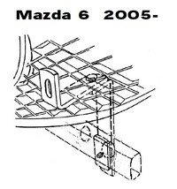 Lisävalojen Kiinnikesarja Mazda 6 uusi 54139
