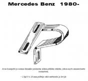 Lisävalojen Kiinnikesarja Mercedes W123 80-85 54441