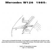 Lisävalojen Kiinnikesarja Mercedes W124 54506