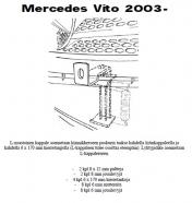 Lisävalojen Kiinnikesarja Mercedes Vito 03- 5458