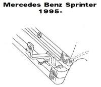 Lisävalojen Kiinnikesarja Mercedes Sprinter 54750