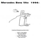 Lisävalojen Kiinnikesarja Mercedes Vito 96-02 54783