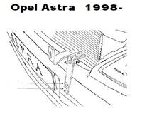 Lisävalojen Kiinnikesarja Opel Astra G 3/98- 54853