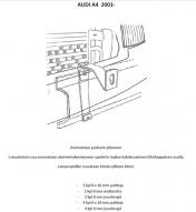 Lisävalojen Kiinnikesarja Audi A4 01-04
