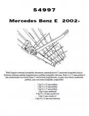 Lisävalojen kiinnikesarja MB E 4/02- (W211)
