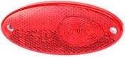 Led-äärivalo punainen, heijastimella 151