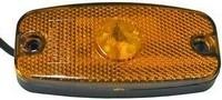 Led-äärivalo keltainen, heijastimella 1370