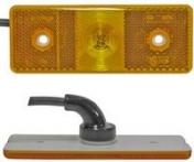 Led-äärivalo keltainen, heijastimella 4782
