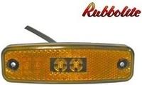 Led-äärivalo keltainen, heijastimella 4816