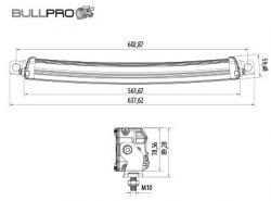 Led-työvalopaneeli Bullpro 200W 300445