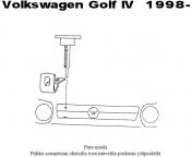 Lisävalojen kiinnikesarja VW Golf IV 98-03