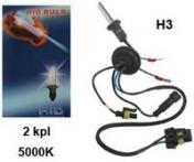 Xenon-polttimopari H3, 35W, 5000K