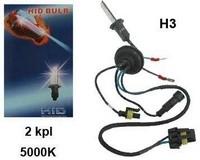 Xenon-polttimopari H3, 55W, 5000K