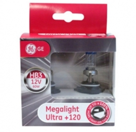 GE 9005 HB3 +120% Megalight Ultra (2kpl)