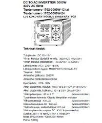 Intelligent invertteri 3000W 12V