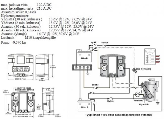 Kaksoisakkurele 12V/24V - Nettiosa.com