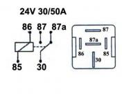 Kytkentärele 24V 1100-0485