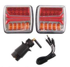 Langaton takavalopari LED