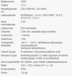 CTEK MXS 25 12V akkulaturi