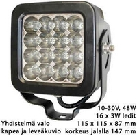 Led-työvalo 10-30V 48W PL-616-LED