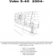Lisävalojen kiinnikesarja Volvo S40 04-