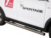 Kylkiputket askelmilla 76mm Kia Sportage 2010-  GP/275/IX