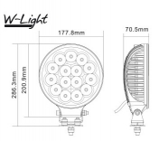 W-light Lightning 175 led-kaukovalo NS3809